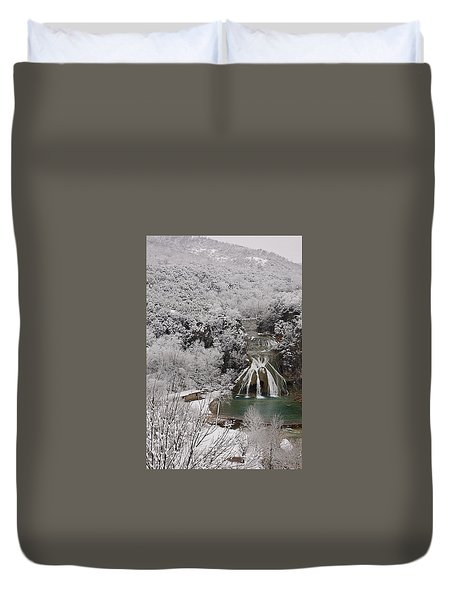 Snow And Turner Falls 2 Duvet Cover