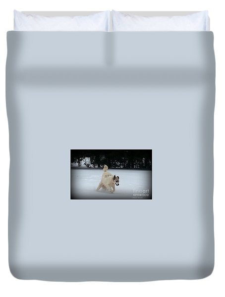 Snow Babies Duvet Cover