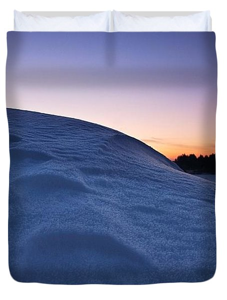 Snow Bank Duvet Cover by Hannes Cmarits