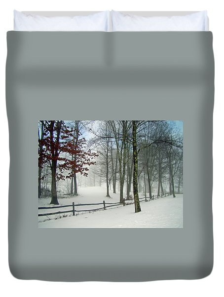 Snow Begins Duvet Cover