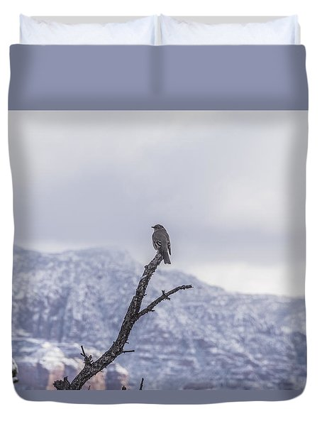 Snow Bird Duvet Cover