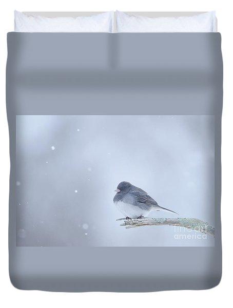 Snow Bird Duvet Cover