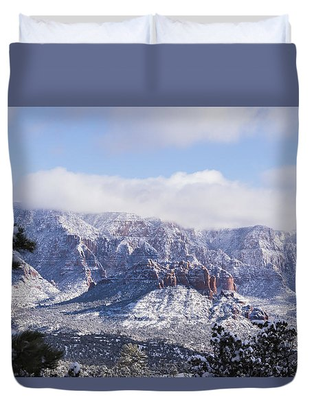Snow Blanket Duvet Cover by Laura Pratt