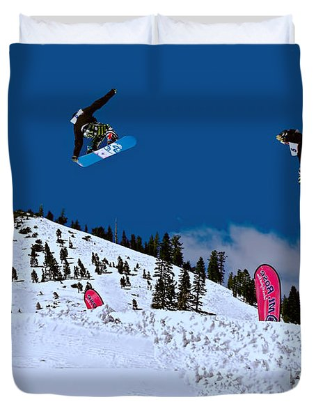 Snow Boarder Duvet Cover