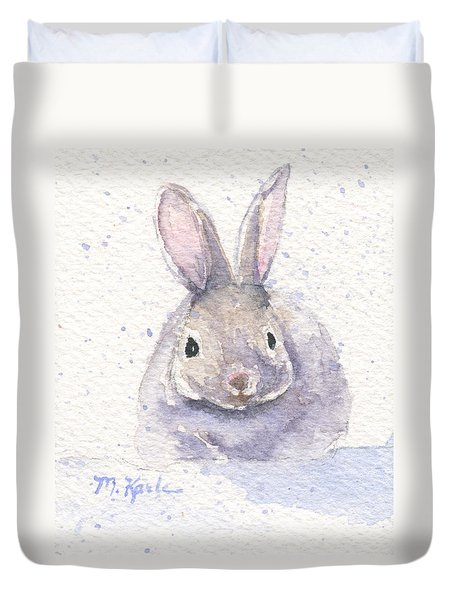 Snow Bunny Duvet Cover