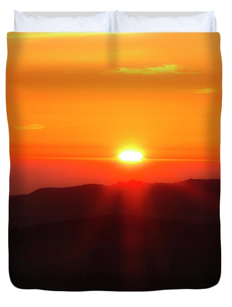 Duvet Cover featuring the photograph Snow Camp View 2 by Leland D Howard