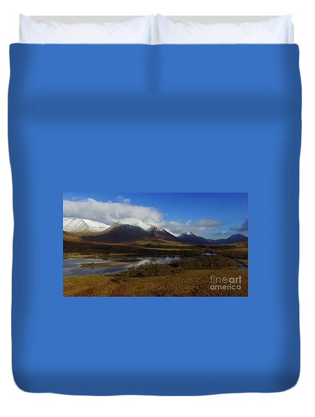 Snow Cap Mountains Duvet Cover