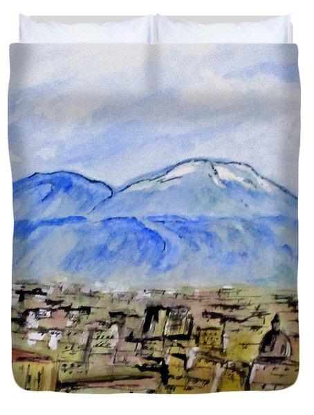 Snow Capped Vesuvio Duvet Cover