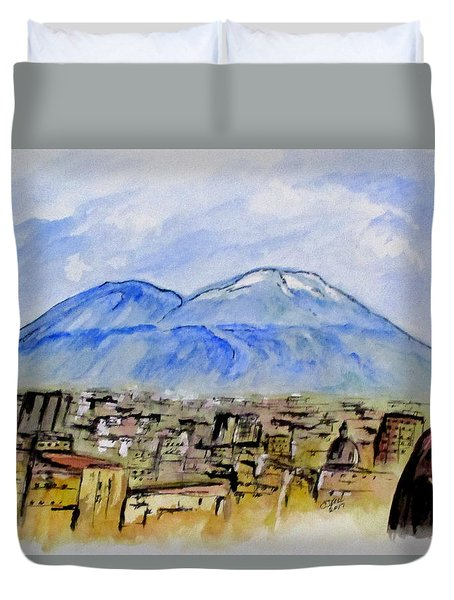 Snow Capped Vesuvio Duvet Cover
