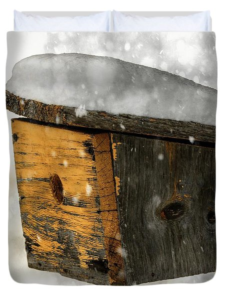 Snow Cover Duvet Cover by Sherman Perry