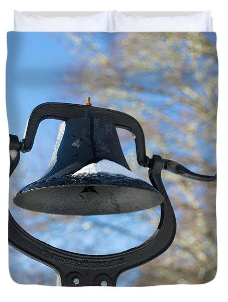 Snow Covered Bell Duvet Cover
