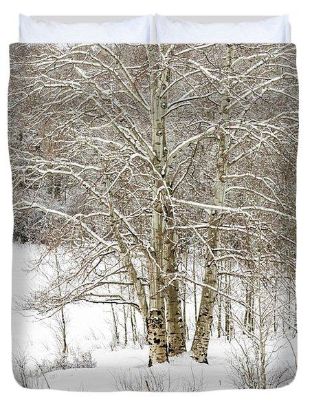 Snow-covered Duvet Cover