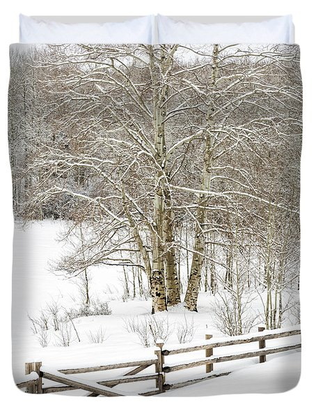 Snow-covered Duvet Cover