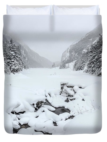Snow Covered Lake Duvet Cover