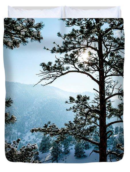 Snow-covered Trees Duvet Cover