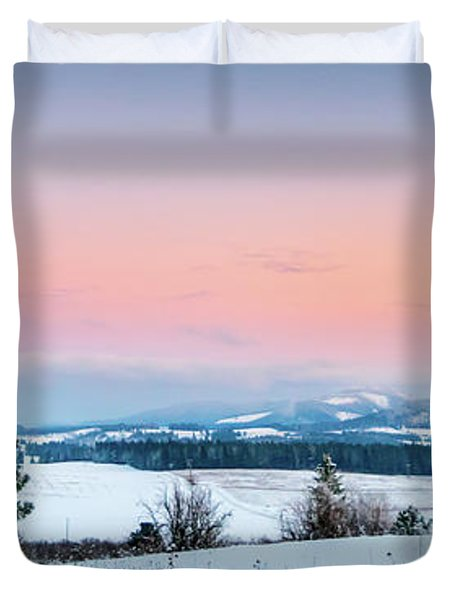 Snow Covered Valley Duvet Cover