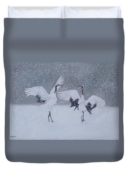 Snow Dancers Duvet Cover