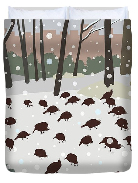 Snow Day Duvet Cover