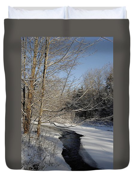 Duvet Cover featuring the photograph Snow Day by Kathleen Sartoris