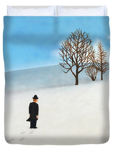 Snow Day Duvet Cover