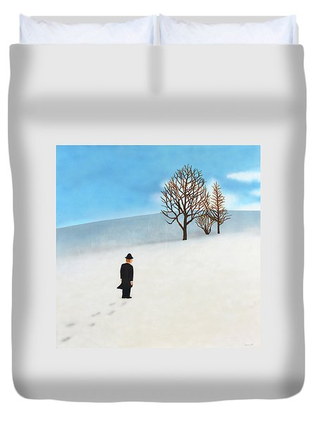 Snow Day Duvet Cover by Thomas Blood
