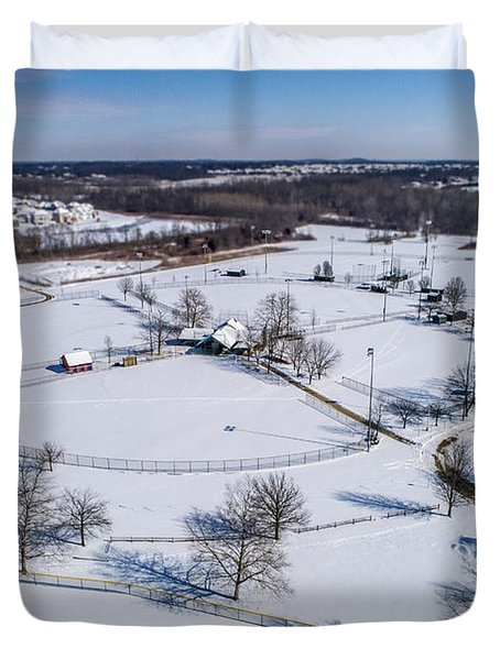 Snow Diamonds Duvet Cover