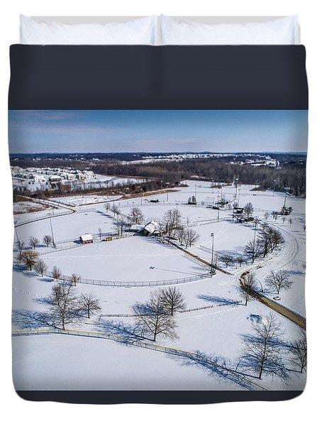 Snow Diamonds Duvet Cover