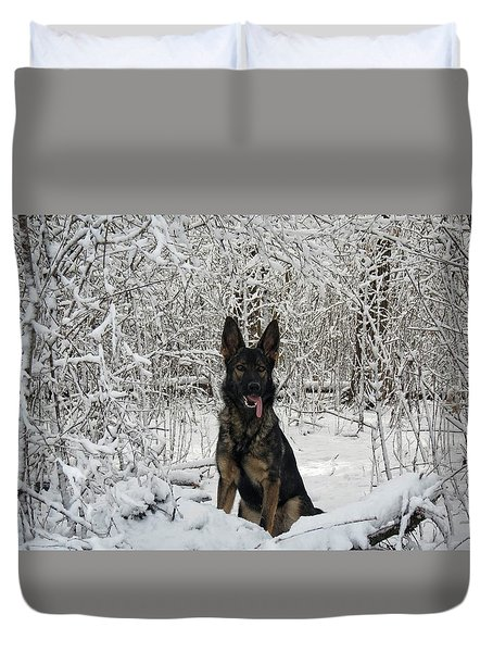 Snow Dog Duvet Cover