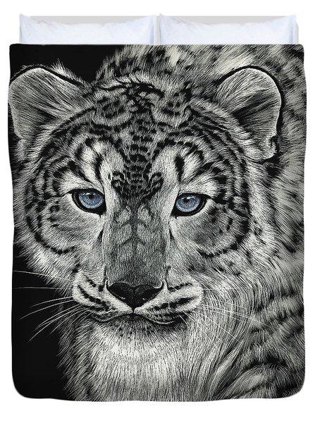 Snow Dragon Leopard Duvet Cover