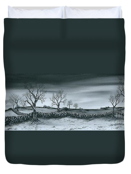 Snow Dust Duvet Cover