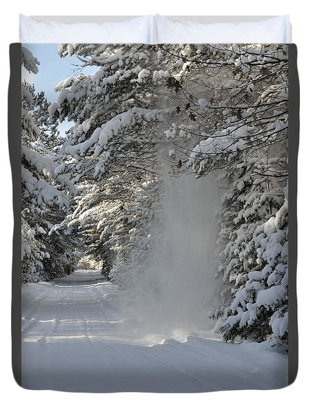 Snow Fall Duvet Cover
