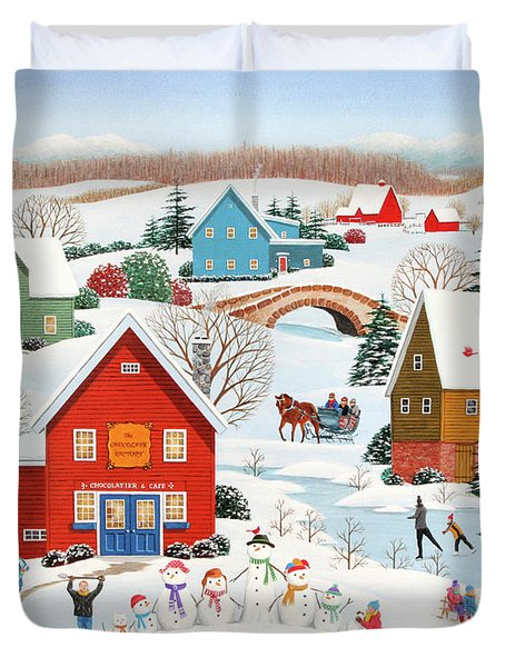 Snow Family  Duvet Cover