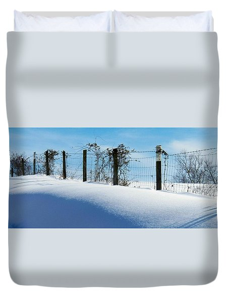 Snow Fence Duvet Cover by Joyce Kimble Smith