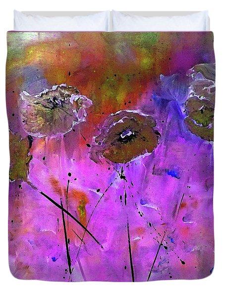 Snow Flowers Duvet Cover