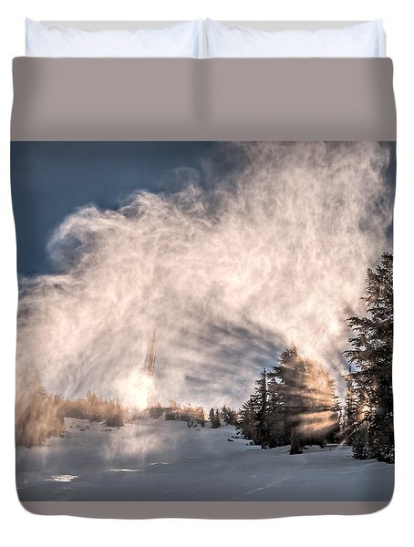 Snow Flume Duvet Cover