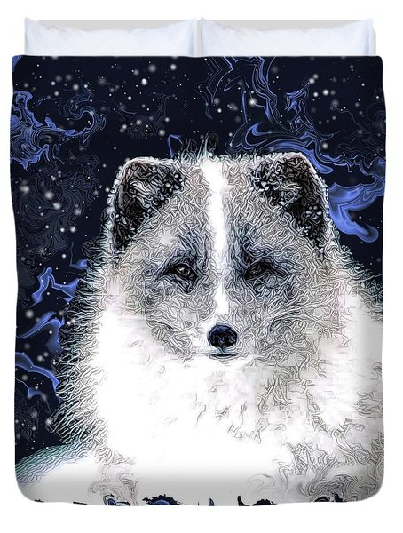 Snow Fox Duvet Cover