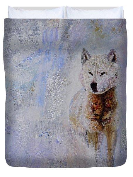 Snow Fox Duvet Cover