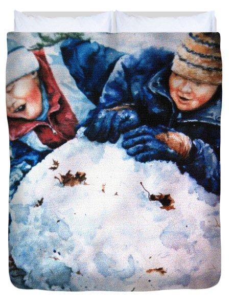 Snow Fun Duvet Cover by Hanne Lore Koehler