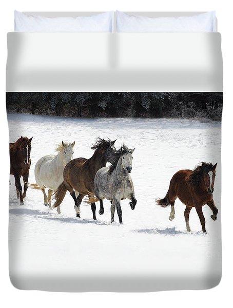 Snow Gallop Duvet Cover