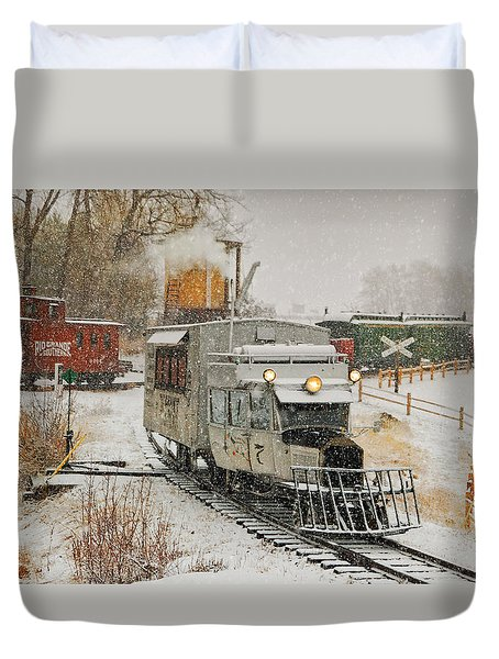 Duvet Cover featuring the photograph Snow Goose by Ken Smith