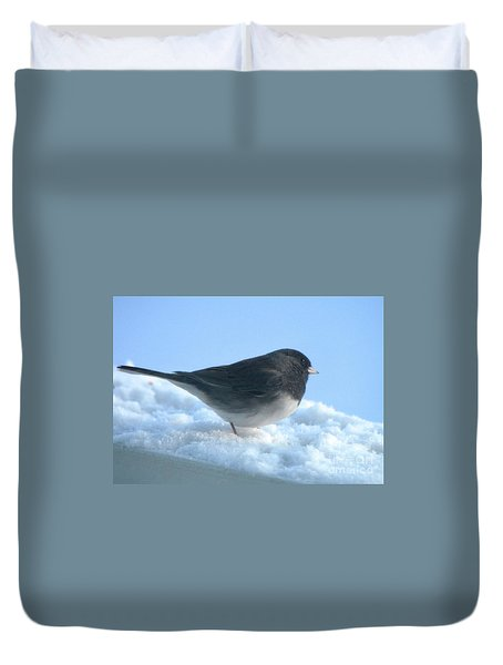 Snow Hopping #1 Duvet Cover