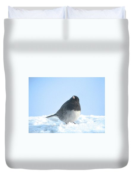Snow Hopping #2 Duvet Cover