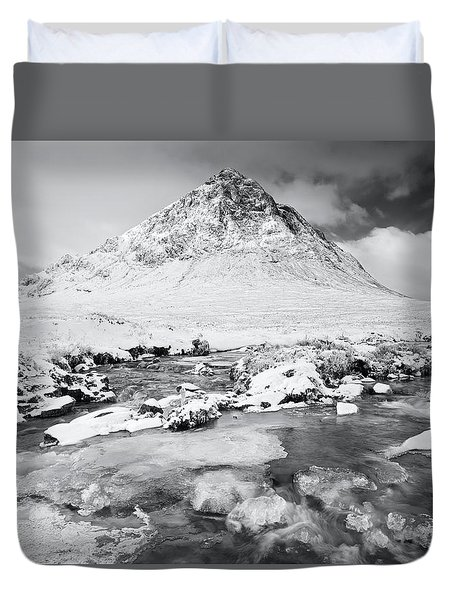 Snow In Glencoe Duvet Cover