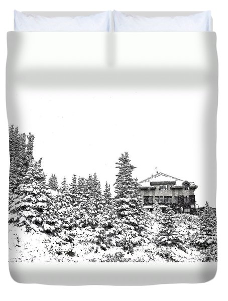 Duvet Cover featuring the photograph Snow In July 2 by Teresa Zieba