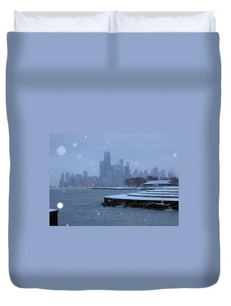Snowy Chicago Duvet Cover