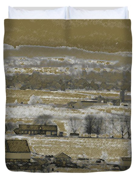 Duvet Cover featuring the photograph Snow In The Valley by Vilas Malankar