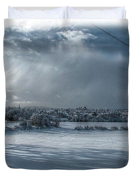 Snow Land Duvet Cover