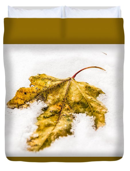 Snow Leaf Duvet Cover
