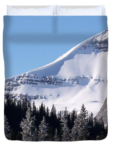 Snow Ledge Duvet Cover by Greg Hammond