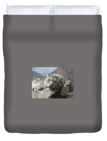 Snow Leopard Relaxing Duvet Cover